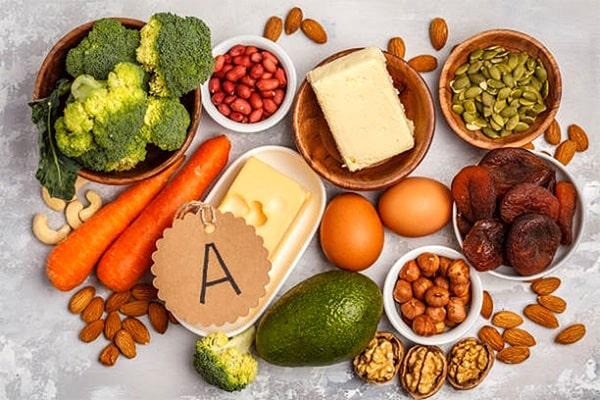 لاغری با انواع ویتامین A