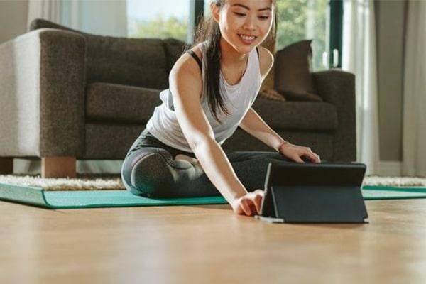 Online exercise programs و ورزش در خانه
