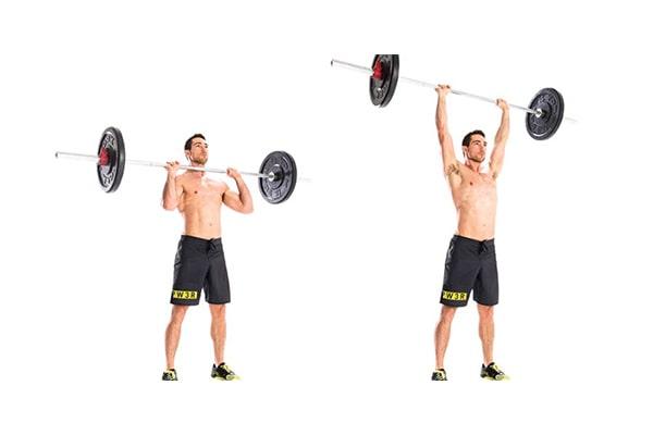 پرس بالای سر و افزایش وزن با ورزش